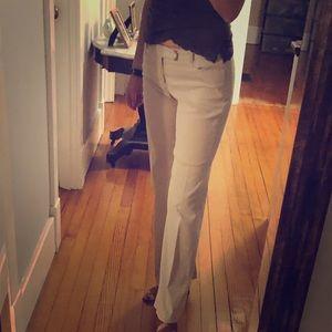 Gap striped bootcut dress pants